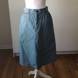 Vintage Levi's LS & co A line denim jean skirt ML